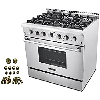 dacor 6 burner gas stove top pro style range conversion kit bundle commercial thor kitchen hrg4804u with double oven reviews
