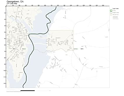 Zip Code Map Of Georgia.Amazon Com Zip Code Wall Map Of Georgetown Ga Zip Code Map
