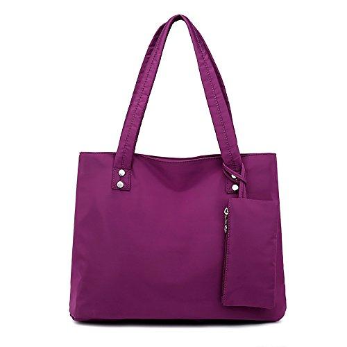 Mfeo Womens Interlayer Soft Nylon Handbag Shoppingbag Bag Tote