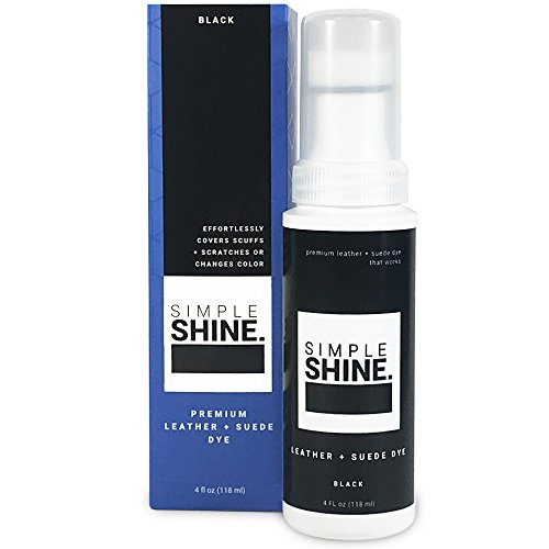 - Simple Shine Premium Black Suede and Leather Dye | Built in Applicator Sponge to Repair Scuffed Damaged Shoes Bags and More| 4oz