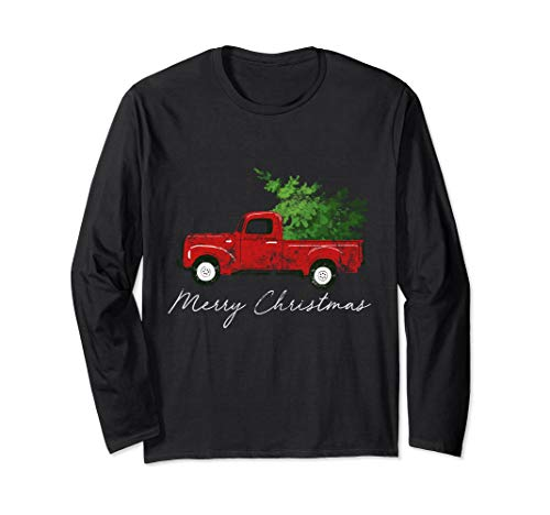 Unisex Vintage Wagon Christmas Long Sleeve Shirt