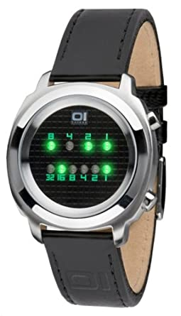 Binary THE ONE Zerone ZE102G1 - Reloj digital de caballero de cuarzo con correa de piel negra - sumergible a 30 metros: Amazon.es: Relojes