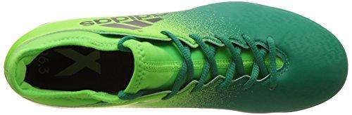 Adidas X 16.3 TF, Scarpe per Allenamento Calcio Uomo, Verde (Versol/Negbas/Verbas), 40/41 EU