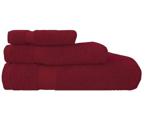 Maghso 3-Piece Banded Towel Set, Red