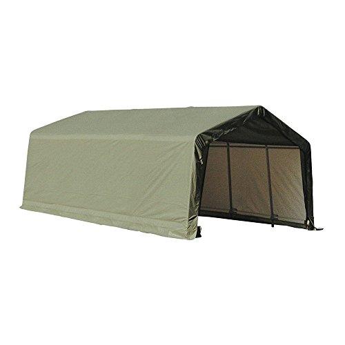 ShelterLogic 72444 Green 12'x24'x8′ Peak Style Shelter