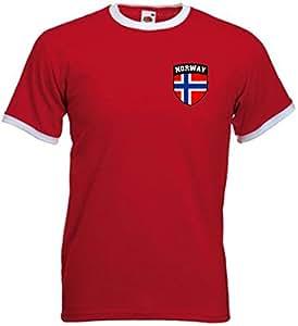 Noruega Norge fútbol escudo Noruega camiseta Jersey - grande: Amazon.es: Deportes y aire libre