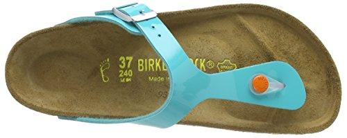 Birkenstock Gizeh - Sandalias de cuero sintético para mujer Verde - Green (Oceangreen)