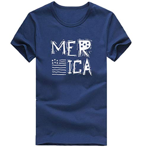 Toponly Women Short Sleeve American Flag Print T-Shirt Independence Day Patriotic Women Tee Shirt Tops Plus Size