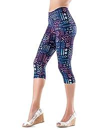 Lush Moda Extra Soft Capri Leggings with Designs- Variety of Prints - 136C
