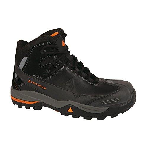Delta Plus- Tw400 S3 Chaussures Hautes Cuir Pleine Fleur - S3 Hro Hi Ci Src T.47- Tw400s3no47