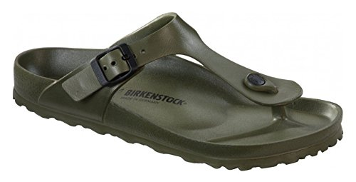 Birkenstock Essentials Unisex Gizeh EVA Sandals Khaki 39 N EU (US Women's 8-8.5) (Footwear Metallic Green)
