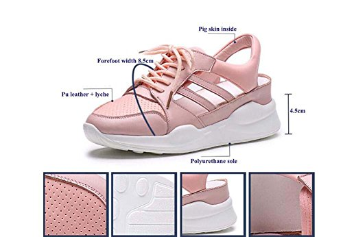 Running 34 40 Hollow Slip shoelace Yarn Breathable Size slingback Pink Elevator Fitness Eu Comfortable Shoes Shoes Shoes PE Pump Women Snakers Anti Sandals Casual Mesh Net Sport 7n46Rwx6