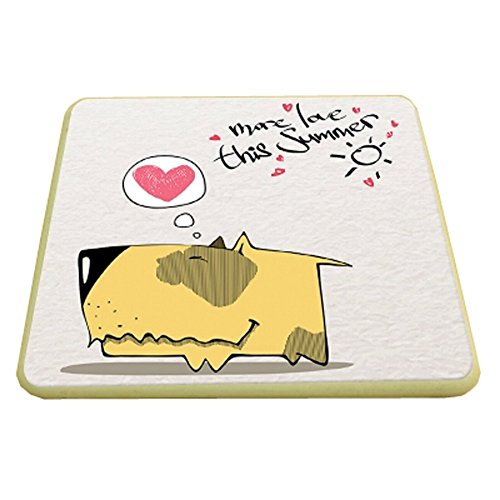 6PCS Square CartoonDrink Coasters Cup Coaster Custom Coasters , Dog