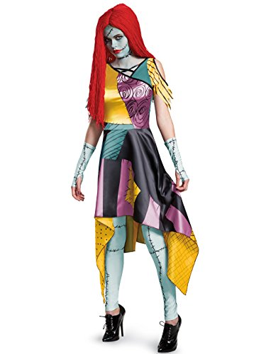 Disney Women's Sally Prestige Adult Costume, Multi, Large ()