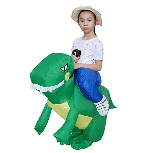 HADM Inflatable Horse Rider Costume Blow up Cowboy Costume Halloween Costumes for Adults Kids -