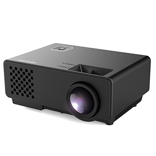 DBPOWER 1200 Lumens LED Portable Projector, Multimedia Home Theater Video Projector Supporting 1080P with HDMI USB VGA AV