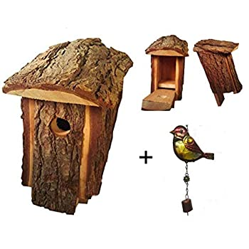 Bird Houses Outside Bluebird House Rustic Amish Handcrafted Made Pine to Attract Small Birds