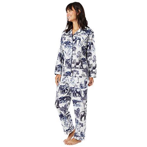 (Safari Toile Luxe Pima Cotton Pajama White)