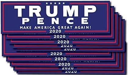 1 Trump Pence Official Blue; Bumper Sticker