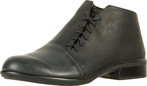 Naot Footwear Women's Camden Vintage Ash Leather/Oily Coal Nubuck/Black Raven Leather/Black M Boot
