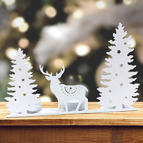 Winter Wonderland Table Decorations - BANBERRY DESIGNS Tealight Candle Holder -