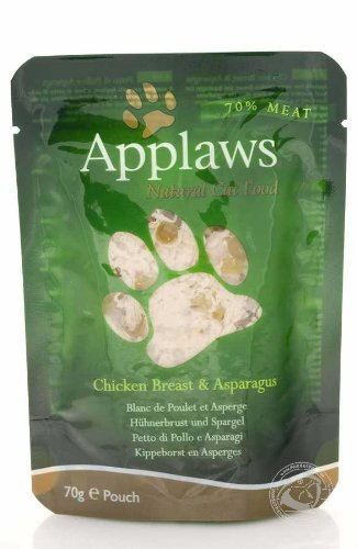 Applaws Chicken & Asparagus Pouch 70G 12PK (Broth),...