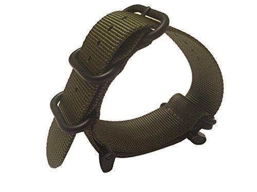 Suunto Strap (Octane Bands Zulu Strap for Suunto Core - 24mm 5 Ring Nylon Band - Includes Lugs Adapter, Threadlocker, Screw Tool)