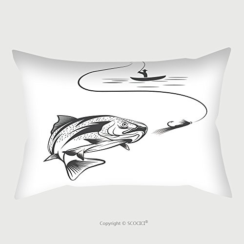 Custom Microfiber Pillowcase Protector Fisherman In Boat And Trout 266271542 Pillow Case Covers Decorative (Fisherman Custom Boat Cover)