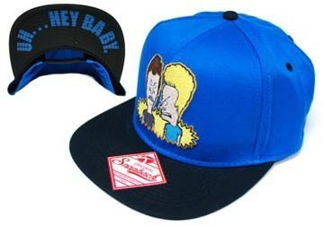 Beavis   Butthead Mens Blue Snapback Adjustable Baseball Cap Hat ... 8132b6e5a95