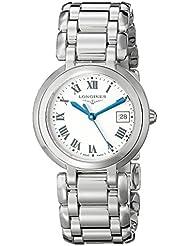 Longines Womens LNG81124716 PrimaLuna Silver Dial Watch