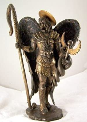 Detailed Bronze Saint St. Raphael Archangel Statue 11 Inch Tall by Religious Gifts