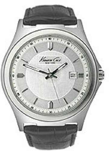 Kenneth Cole New York Leather Collection Silver Dial Men's watch #KC1478