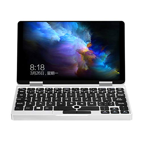 TOOGOO 7 inch One Netbook One Mix Yoga Pocket Laptop Intel Cherry Tablet PC Windows 10.1 Trail x5-Z8350 Quad Core 8G+128GB (Silver) US ()