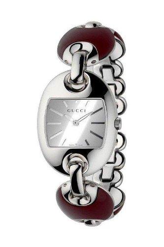 Gucci Marina Chain (Gucci Marina Chain Silver Dial Steel and Ceramic Ladies Watch YA121516)