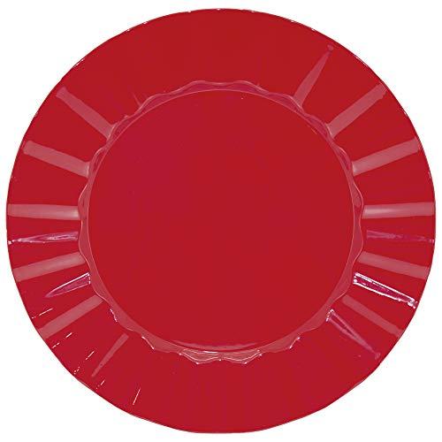 Sousplat Plissado Mimo Style Vermelho