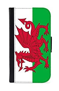 Case Fun Samsung Galaxy S4 (i9500) Faux Leather Wallet Case - Wales Flag hjbrhga1544