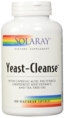 Solaray Yeast-Cleanse -- 180 Vegetarian Capsules