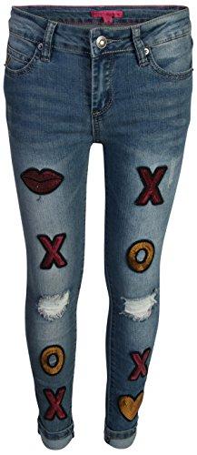 Betsey Johnson Girls Skinny Denim Fashion Jeans, XOXO, Size 7' by Betsey Johnson