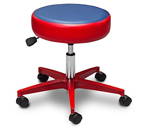 Pediatric Equipment - Medical Stool - 5-Leg Pneumatic Stool with Red & Blue Color Top - CL-2155-M-4RL