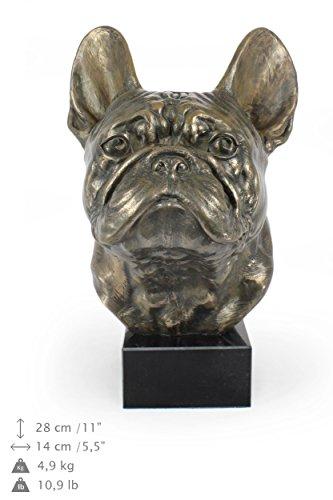 French Bulldog, Dog Bighead Statue, Figure on Marble Base, Limited Edition, Artdog