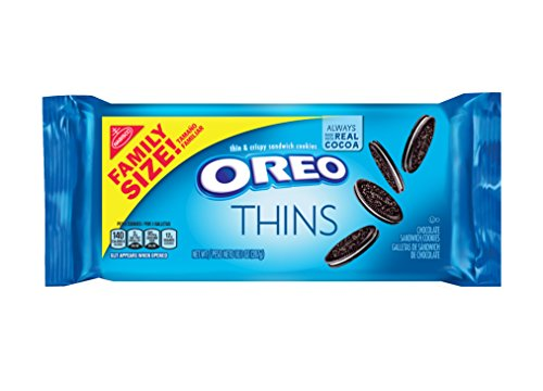 - Oreo Thins Chocolate Sandwich Cookies - Family Size, 13.1 Ounce