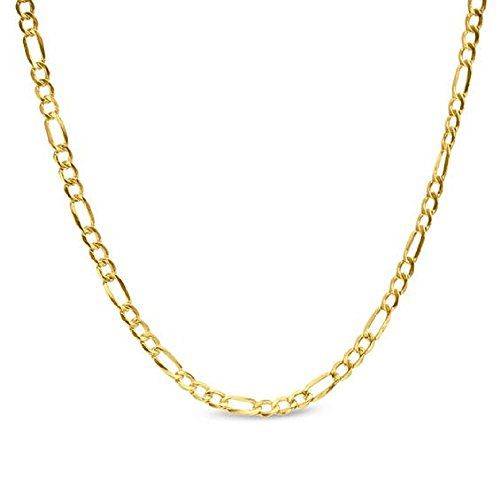 14K Yellow Gold 2.5mm Figaro 3+1 Link Chain Necklace - Multiple lengths available-16