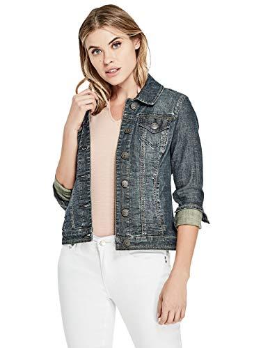 GUESS Factory Women's Alisana Denim Jacket in Dark Wash