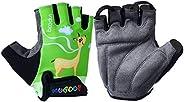 4-10 Years Old Kids Cycling Gloves Half Finger Shock-Absorbing Breathable Biking Gloves for Roller Skating Bik