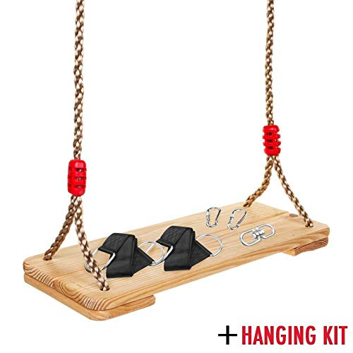 Wooden Hanging Tree Swing for Adults Kids, 17