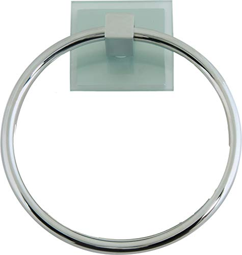 (Atlas Homewares ETR-CH Eucalyptus Collection 6.12-Inch Towel Ring, Polished Chrome )