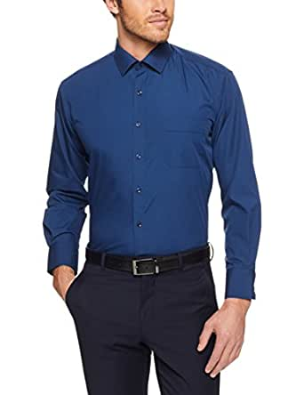 Van Heusen Classic Relaxed Fit Business Shirt, Navy, 39cm Collar x 86cm Sleeve