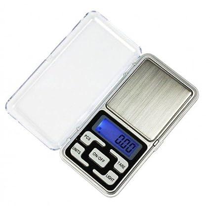 Mini balanza de precisión de 0.01 Hasta 500 gramos, báscula de cocina, funda –