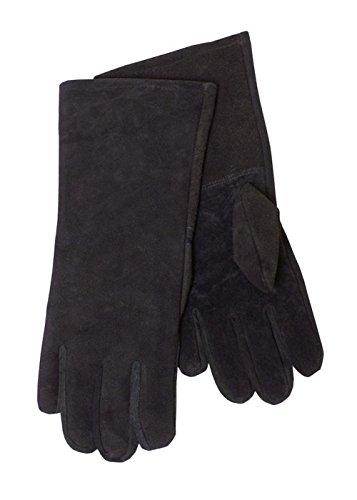 Gants gant de Cuir sauvage, noir - Gants de l'escrime Gants de chevalier GN médiéval - Noir, L Battle Merchant
