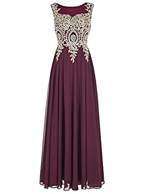 LiCheng Bridal Women's Rhinestone Lace A-line Evening Bridesmaid Dresses
